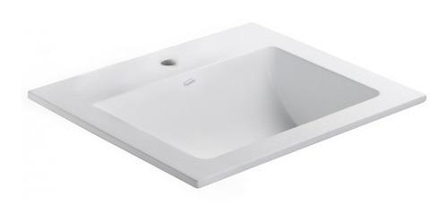 bacha ferrum sobreponer symi blanca lavatorio 1 agujero