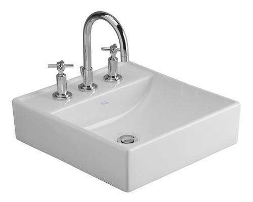 bacha ferrum tori l324k blanca baño apoyar 3 agujeros
