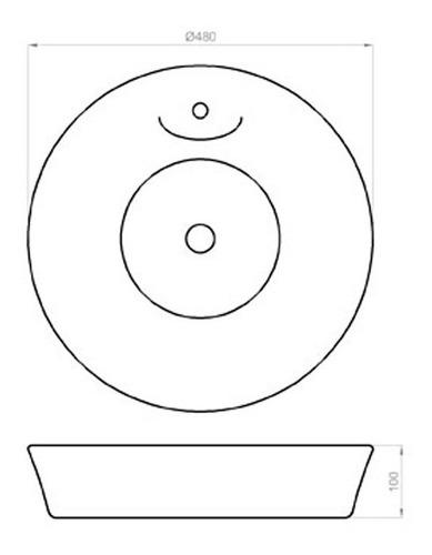 bacha ferrum tori lk386 redonda blanco 48x10