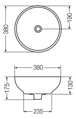bacha ferrum tori marmolada negra redonda de apoyo l242k-mn