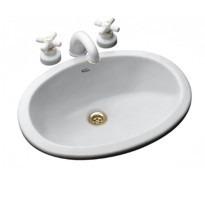 bacha lavatorio baño sobre mesada imola ferrum blanca