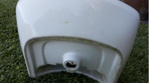 bacha lavatorio con columna  roca  con grifería