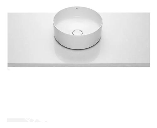 bacha lavatorio de apoyo roca inspira mod round loza blanca