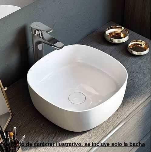 bacha lavatorio de apoyo roca inspira mod soft loza blanca