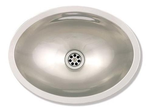 bacha ovalada acero inoxidable mi pileta 455 lavatorio baño