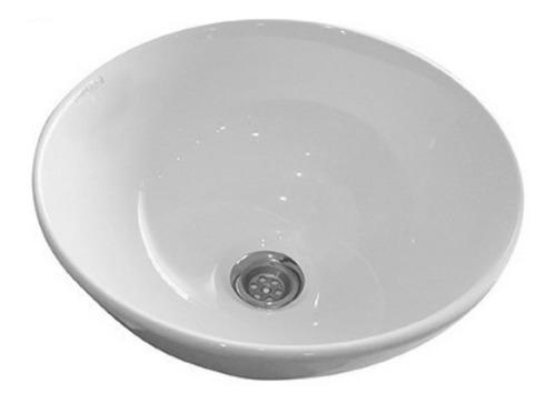 bacha para baño pringles 32cm redonda chica de apoyo loza