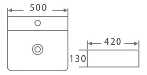bacha peirano cuadrada apoyo 3 agujeros 5 años 50 x 42 cm