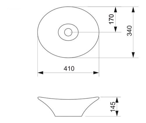bacha piazza a082 de apoyo ovalada blanca 41 x 33 x 14,5 cm loza brillante baño apoyar