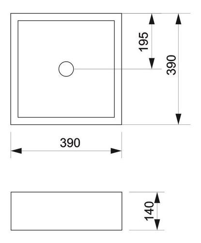 bacha piazza apoyo cuadrada blanca 38 x 38 x 13 a037