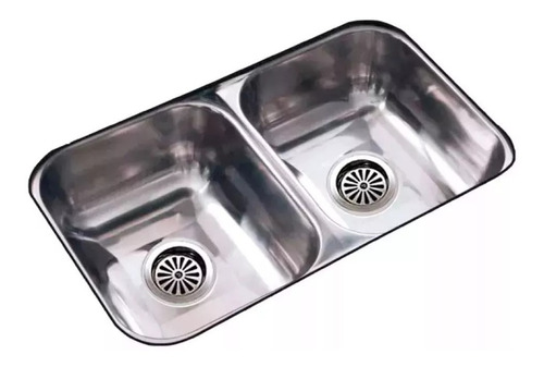 bacha pileta cocina doble johnson acero inox cc28/18 cuotas