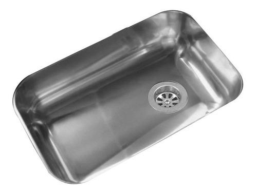 bacha pileta cocina simple johnson acero inoxidable zz 52 b