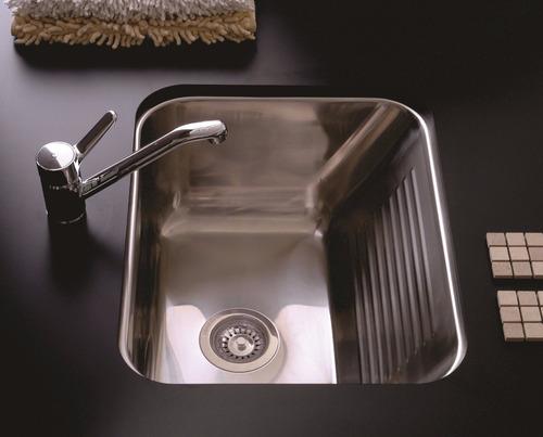 bacha pileta lavadero johnson ln50 50x40x25 acero inoxidable