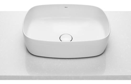 bacha roca inspira soft de apoyo loza blanco baño 50cm