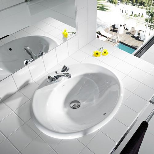 bacha roca java de apoyo lavatorio porcelana blanco