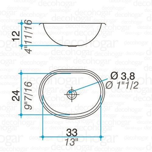bacha simple baño pileta vanitory johnson acero inox 0v 330l