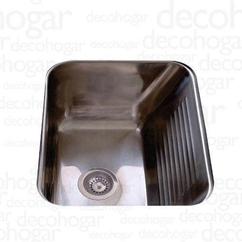 bacha simple lavadero pileta johnson acero 304 ln50 38 lts