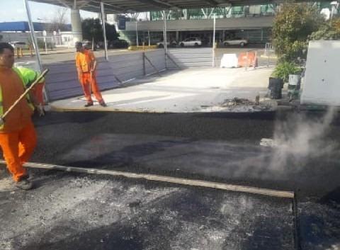 bacheo pavimento - carpeta asfaltica - reparación