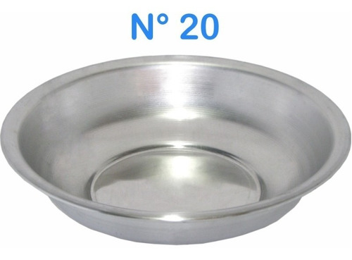 bacia cuba de alumínio lavatorio n° 20 simples 850 ml