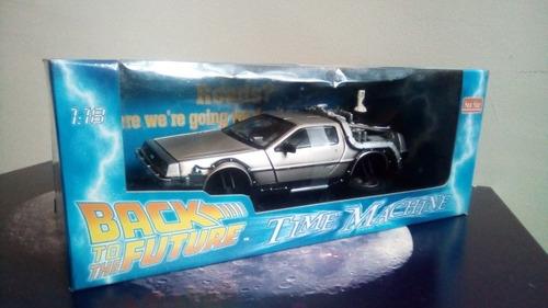 back to the future 2 time machine delorean 1:18 sunstar