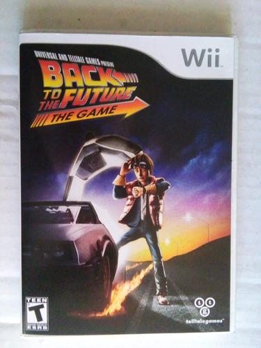 back to the future game wii nintendo trqs volver al futuro