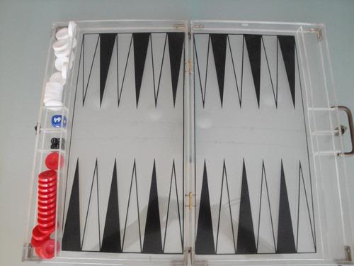 backgammon acrilico italiano joya 1984