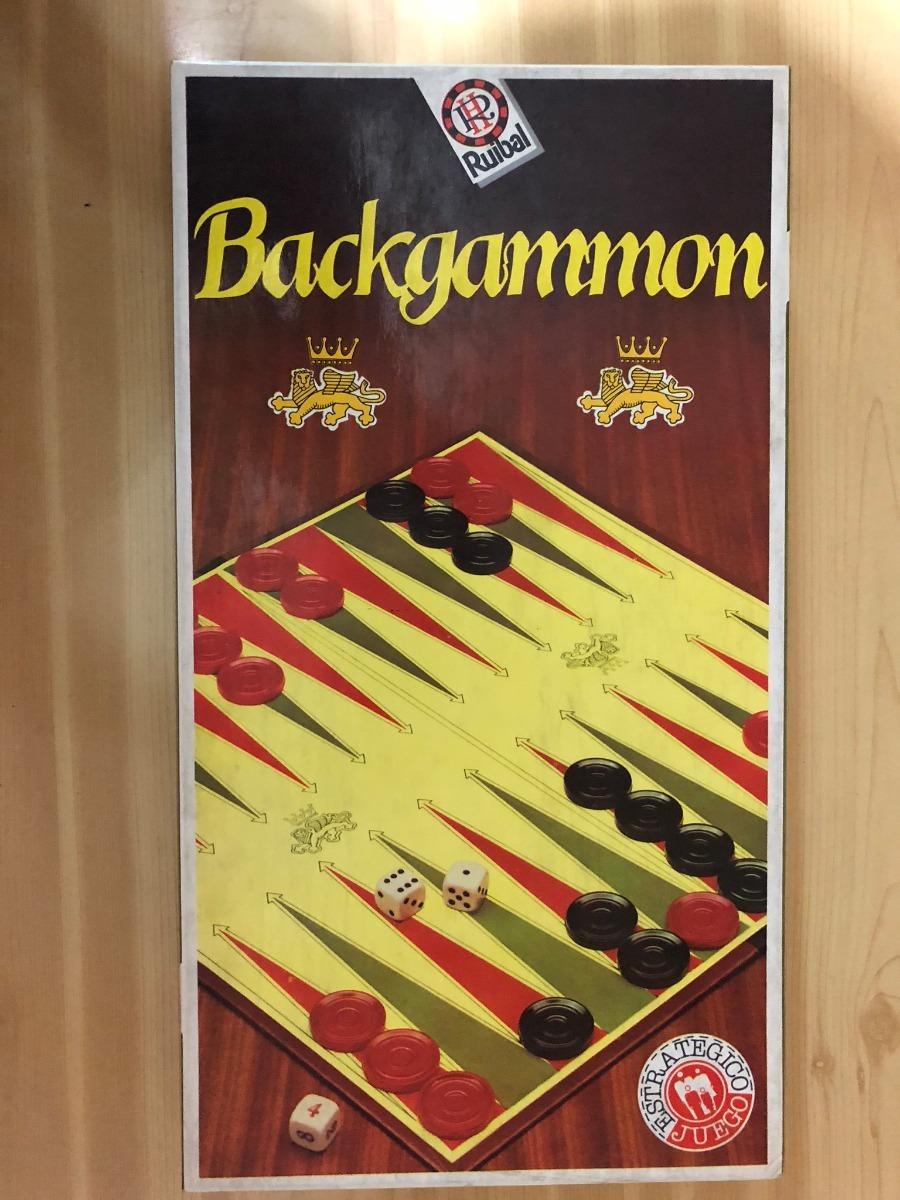 Backgammon Ruibal Juego De Mesa Dados Fichas Tablero Manual 300