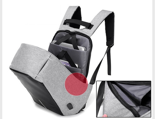 backpack anti theft mochila robo usb cargador envio regalo
