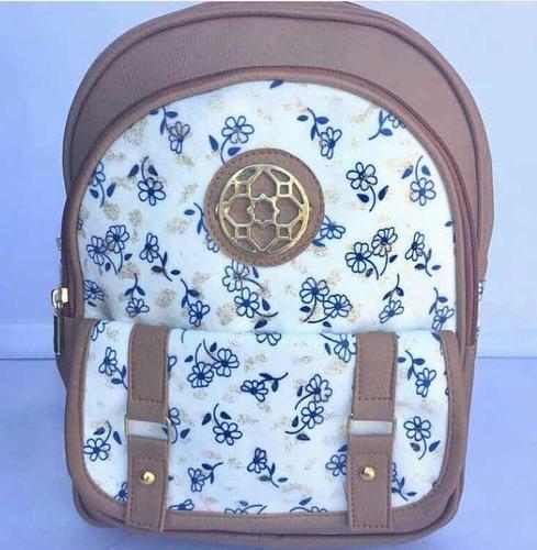 backpack estampado de cuero morrales para dama