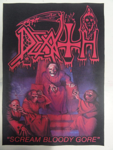 backpatch death scream bloody gore - 28x20