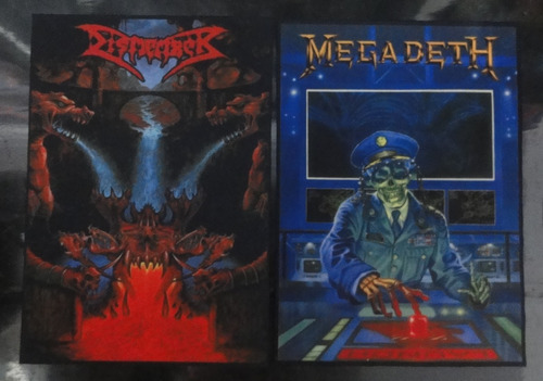 backpatch megadeth - 28x20 - patch costas - scavengers