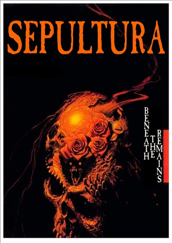 backpatch sepultura - beneath the remains - 28x20 + cr