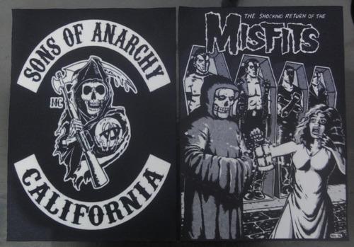 backpatch sons of anarchy califórnia - medidas: 28x20