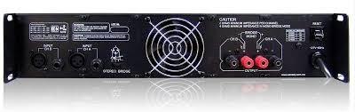 backstage amplificador cs-20000 2 canales 1960 watts rms