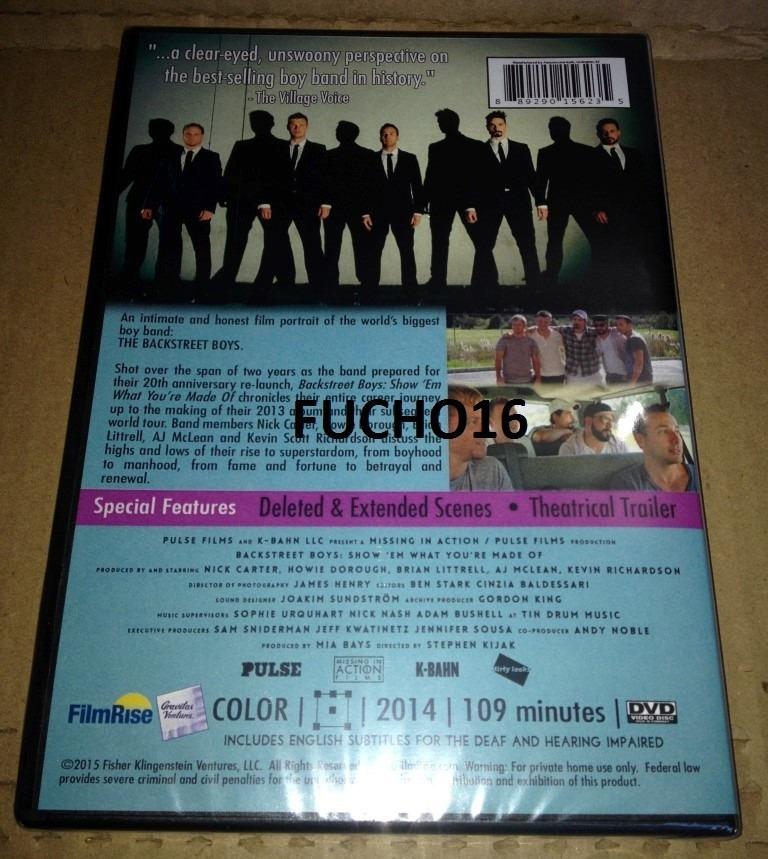 backstreet boys dvd show em what you re made of importado r 22