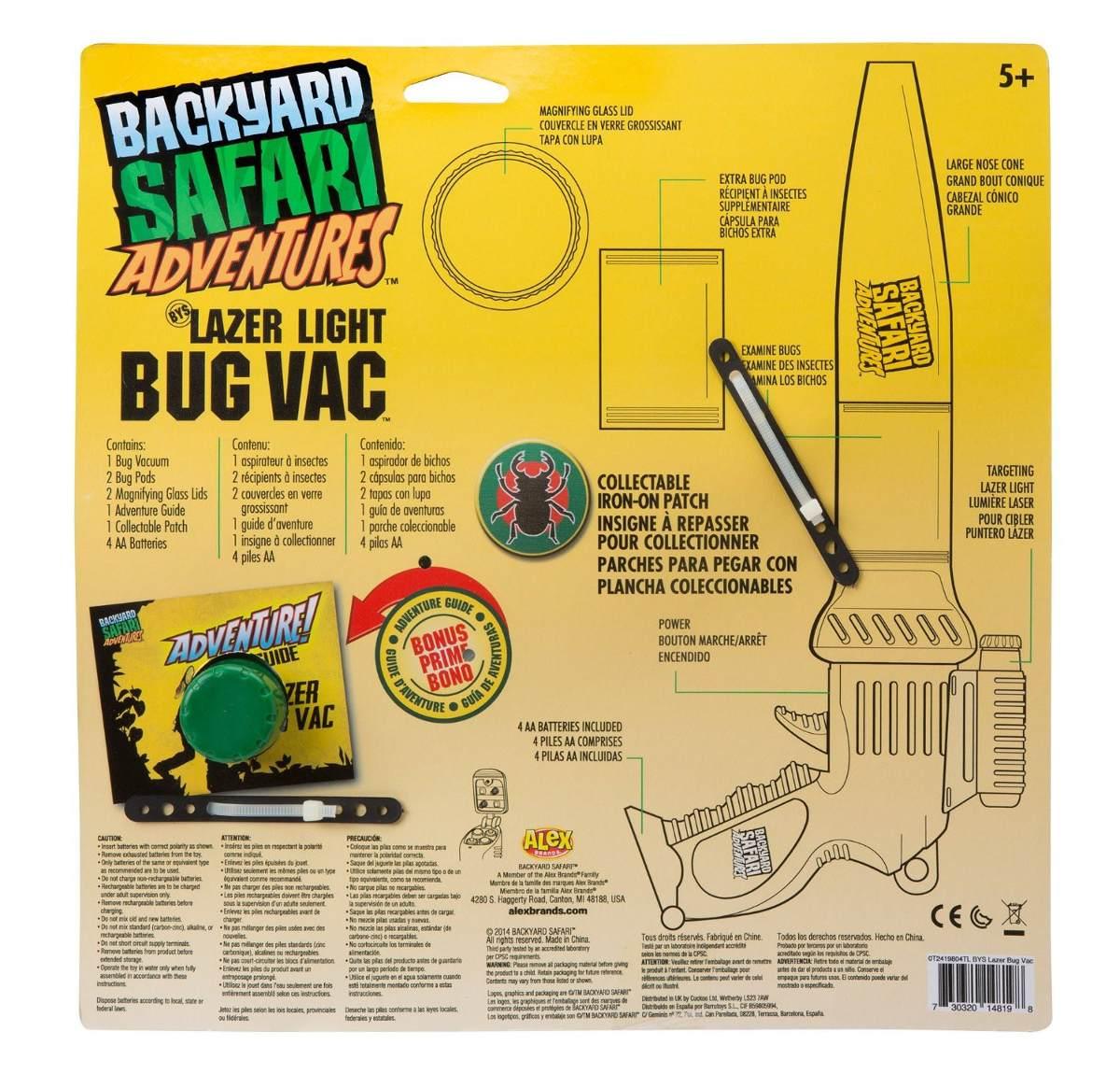 backyard safari pistola cazabichos aspira insectos cazador