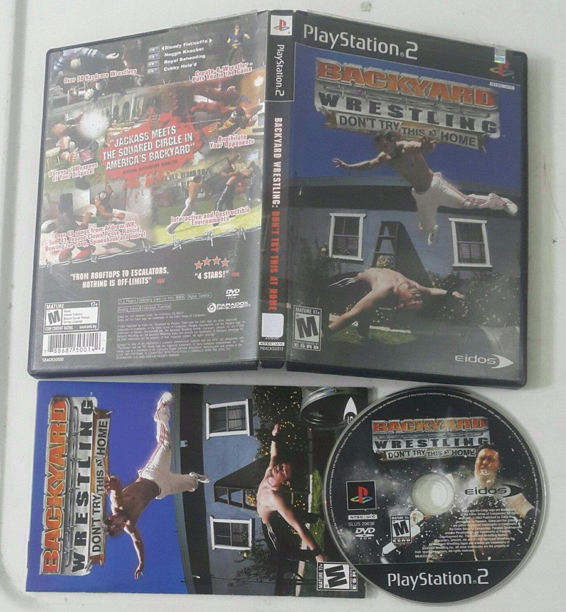backyard wrestling lucha playstation 2 ps2 29 000 en