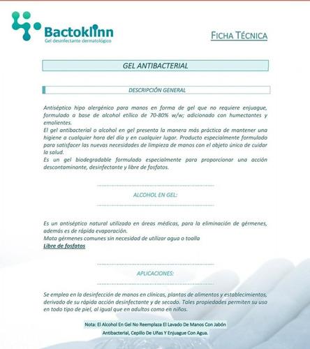 bactoklinn gel antibacterial antiséptico emoliente