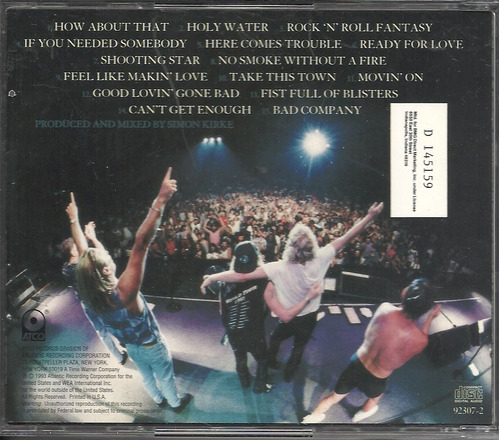 bad company what you hear what you.. 1993 cd(vg)(us)import**