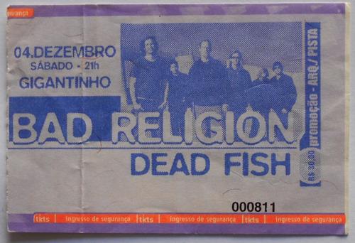 bad religion ingresso show porto alegre gigantinho dez 2010