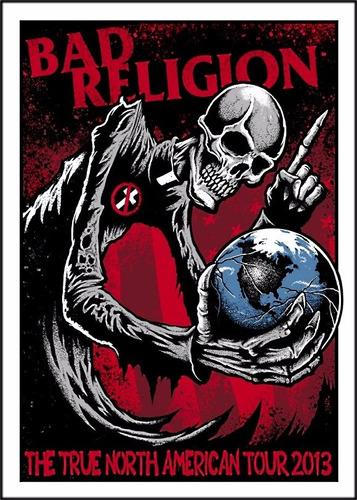 bad religion poster grande 50cmx70cm papel punk rock parede