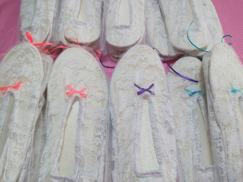 badanas/pantuflas para eventos/fiesta! en bolsitas de tul