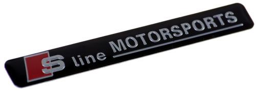 badge emblema em metal - audi s-line motorsport