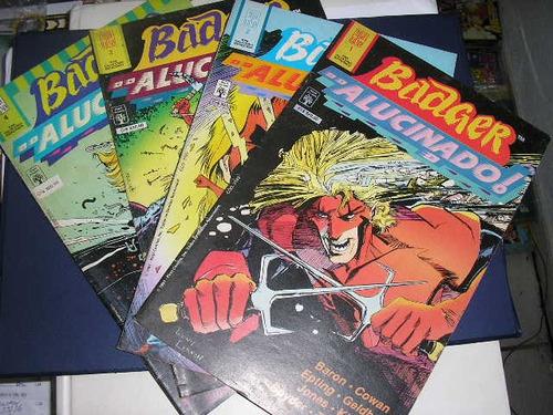 badger alucinado coleção em 4 edições ed. abril