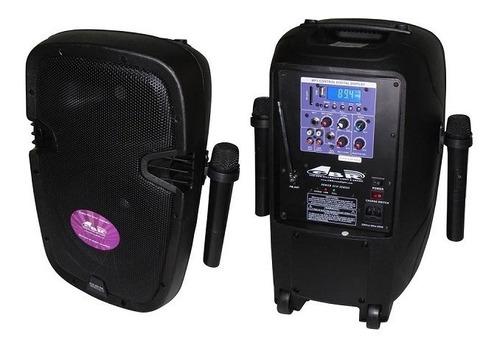 bafle 10 pulg potenciado batería 2 mic. inal. pl1050 gbr eco