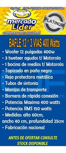 bafle 12 3 vias 300w woofer 3 tweeter y bocina oferton!! cjf