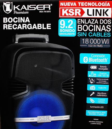 bafle 12 ksr i-link recargable 18000w pmpo c/bluetooth radio