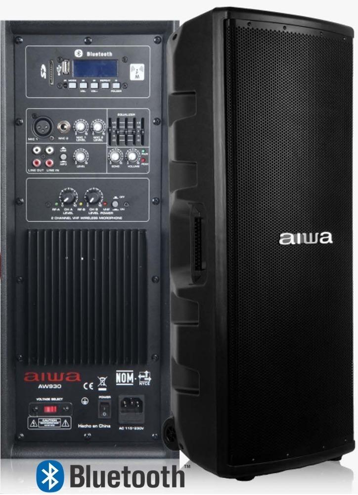 Bafle 2x15 Alta Potencia Aiwa Profesional Aw930 Bluetooth