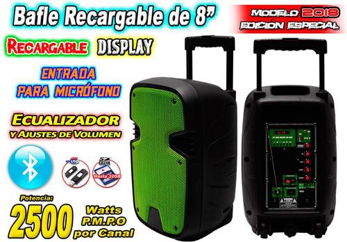 bafle 8 pulg. bateria rec. bluetooth usb sd y auxiliar xaris