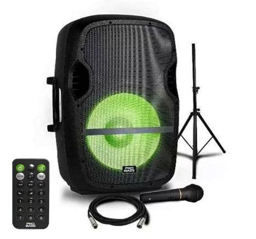 bafle activo 15  bt probass + microfono + cable + tripode