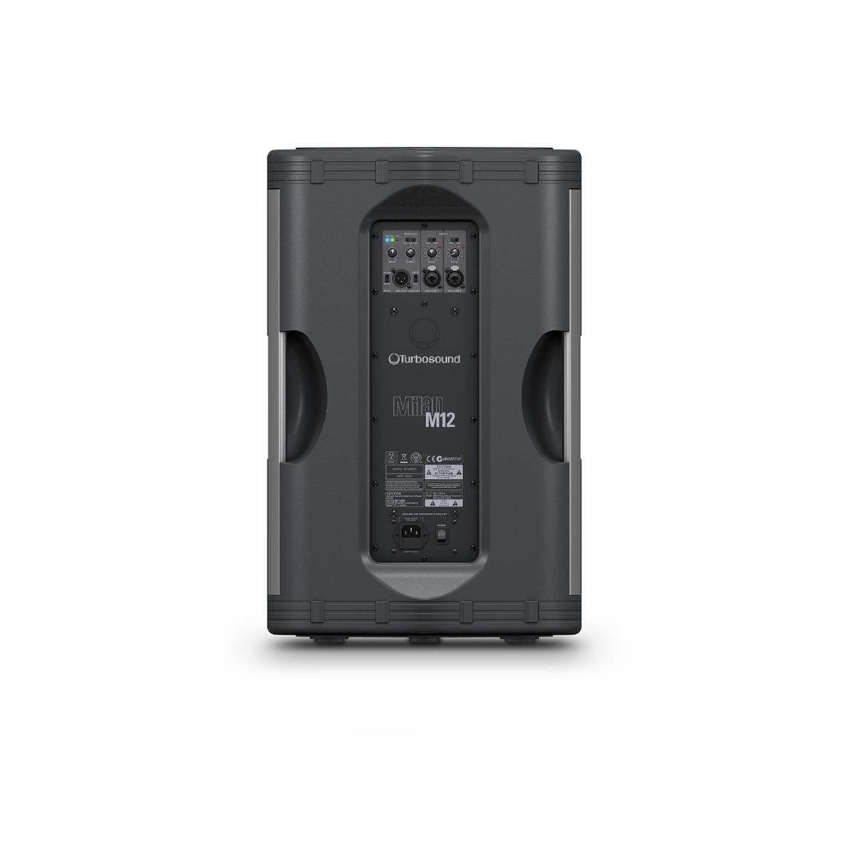 bafle activo amplificado turbosound milan m12 1100 watts 12 en mercado libre. Black Bedroom Furniture Sets. Home Design Ideas